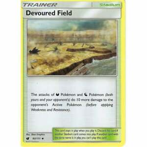 POKEMON SUN & MOON CRIMSON INVASION - TRAINER CARD: DEVOURED FIELD - 93/111