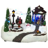 Nature's Mark NM-X13091CA Animated Holiday Gazebo Scene w/ LED Lights & Music