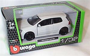 Volkswagen Golf GTi in White 1:32 Scale Diecast  burago New in Box