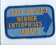 Werner Enterprises safe driving award patch 2-1/2 X 3-7/8 #1206