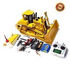 New 1/14 All-metal 2.4Ghz Remote Control 9Ch Hydraulic Bulldozer Rc Wheel Loader