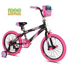 "Kent BMX Bicycle 18"" Aluminum Frame Girl Kids Bike Training Wheel Pegs New!"