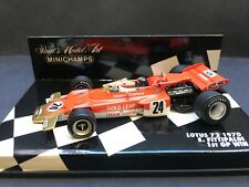 Minichamps - Emerson Fittipaldi - Lotus - 72 - 1:43 -1970 - 1st GP win USA -Rare