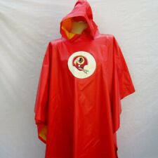 Vtg Washington Redskins Rain PARKA Jacket Hooded Rubber Red for Football Game