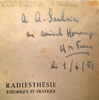 HENRY DE FRANCE RADIESTHESIE*RARE SIGNATURE* BAGUETTE PENDULE MAGNETISME CURIOSA
