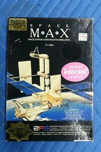 Space MAX Space Station Construction Simulator PC Video Game 1986 5.25 Disks