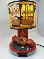Lightning McQueen Disney Pixar Cars Talking Table Lamp & Digital Alarm Clock