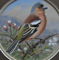 Lovely Robin Reckitt Original Watercolour Painting Of A Chaffinch (Wildlife Art)