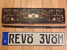 YOUR TEXT German License Plate e.G. MOVE ÖVER and cool Frame read Deutschland!!!