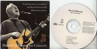 DAVID GILMOUR In Concert Album Sampler 2002 UK 6-track promo only CD