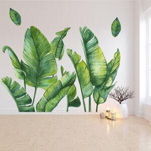 Rimovibile Verde Pianta Adesivo da Parete for Soggiorno Arte Murale Decorativo