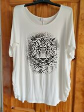 Bump it up Cream Tiger Maternity Top Size 18