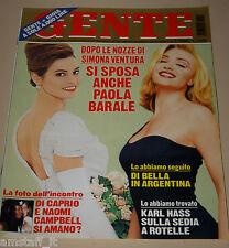 GENTE=1998/14=PAOLA BARALE SIMONA VENTURA=ALINA REYES=RITA FORTE=LUCREZIA LANTE=