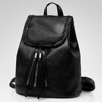 Women Travel Leather Backpack Simple style Handbag Rucksack Shoulder School Bag