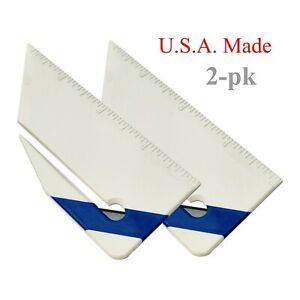 2 Pack Plastic Letter Opener Ruler - USA made
