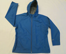 Woolrich Blue Rain Coat Windbreaker Jacket with Hood Womens XL