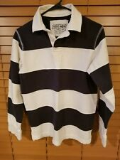 URBAN PIPELINE sz L youth  Blue & White Rugby Polo Shirt Long Sleeve