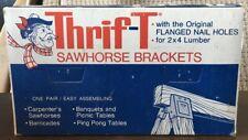 VINTAGE  Thrift-T Sawhorse Brackets. New In Box Dalton No. 400 W/ Orig Price Tag