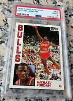 MICHAEL JORDAN 1984 Topps GLOSSY RARE Rookie Card RC PSA 9 Chicago Bulls 1992 $$