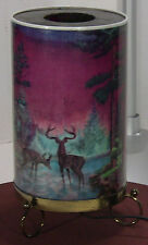 VINTAGE 1956 L.A. GOODMAN FOREST FIRE - WILD LIFE MOTION LAMP