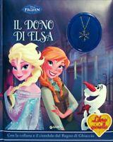 Il dono di Elsa Frozen Libro con gadget gioiello Ediz. illustrata Cartonato Nuov
