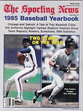 1985 Sporting News Baseball Yearbook Magazine W/Gooden & Mattingly Cover