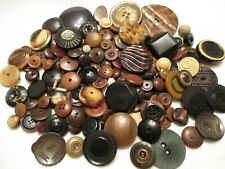 140 Old 1800s - 1920s Antique Vegetable Ivory Celluloid & Other Clothing Buttons