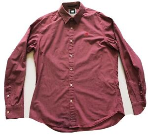 G-Star Raw Men's Correct Core Check Shirt Size Extra Large XL Red