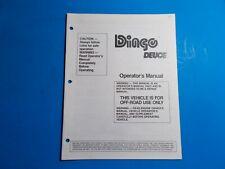 1994 Manco Machine Offroad Vehicle Dingo Deuce Operators Manual