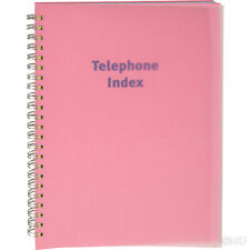 PHONE BOOK EXECUTIVE ADDRESS PAD CONTACT DATA NOTE TELEPHONE DIARY COLOURED