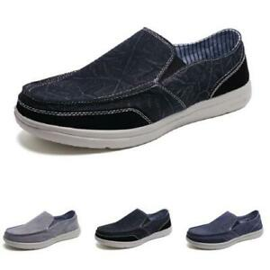 Men's Canvas Loafers Shoes Driving Moccasins Pumps Slip on Breathable Casual D