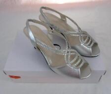 Womans shoes Caparros Philomena size 6.5 silver slingback sandals nib