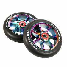 Phoenix 7 Spoke F7 Alloy Core Wheel Twin Pack -  110mm - Neo Chrome