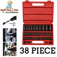 "15 Piece6 Point Metric Size.. Neiko 02474A 1//2/"" Drive Deep Impact Socket Set"