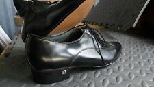 Vintage Men's BLACK Leather Pointy Toe PLAYBOY Fashion Dress Shoe 70s 80s size 7