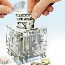MONEY MAZE COIN BOX PUZZLE GIFT GAME PRIZE SAVING BANK