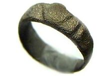 Elegant Ancient Roman Province Antioch Sculpted Terraced Bronze Ring Sz6½ AD200