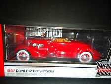 Auto World Cord 812 Convertible 1937 Red 1/18