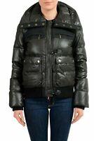 Just Cavalli Wool Black Full Zip Women's Down Parka Jacket US M IT 42