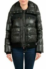 Just Cavalli Wool Black Full Zip Women's Down Parka Jacket US M IT 42