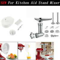 NEW Meat Grinder Sausage Filler & Juicer Attachment For Kitchen Aid Stand Mixer