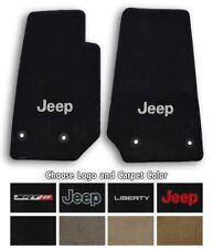 2002-2013 Jeep Liberty Velourtex Carpet Front Floor Mats - Choose Color & Logo