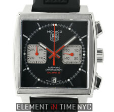 Tag Heuer Monaco Calibre 12 Chronograph Steel 39mm Black Dial CAW2114.FT6021