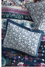 Anthropologie MEZE KING blue purple floral Shams cotton slub & percale NEW! 2