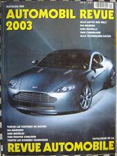 rare SALON AUTOMOBILE REVUE 2003 KATALOGNUMMER AUTOMOBIL CATALOGUE