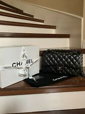 Authentic Chanel Classic Flap Bag Jumbo Double Flaps
