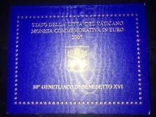 RARE Coffret BU 2 EURO Commémorative VATICAN 2007 -  80 ANS DU PAPE BENOIT XVI