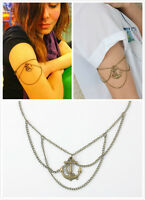 NEW Bronze Anchor Arm Tassel Slave Harness Chain Upper Armband Armlet Bracelet