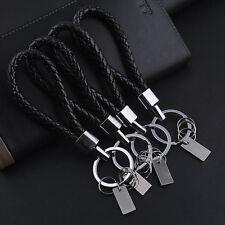 Fashion Men Leather Key Chain Ring Keyfob Car Keyring Keychain Creative Gift Hot