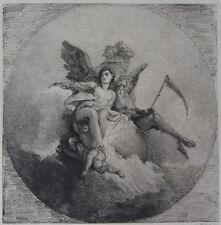 VENUS ET LE TEMPS WALTNER CH. (1846-1925) D'APRES TIEPOLO, EAU FORTE L'ART,